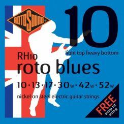 Rotosound RH10 Roto Blues Snarenset voor Elektrische Gitaar (10-52)