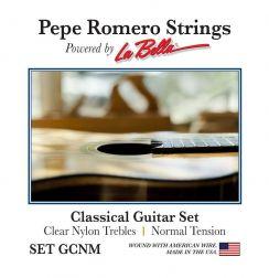 Pepe Romero Clear Nylon Set GCNM Normal Tension - Pepe Romero La Bella snaren voor de klassieke gitaar