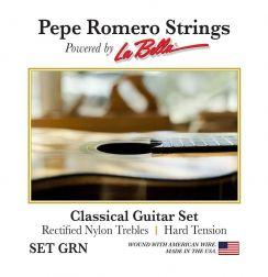 Pepe Romero Rectified Nylon GRN Hard Tension - Pepe Romero La Bella snaren voor de klassieke gitaar