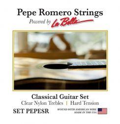 Pepe Romero Clear Nylon Set PEPESR Hard Tension - Pepe Romero La Bella snaren voor de klassieke gitaar