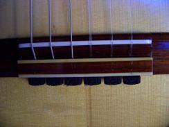 Zwarte String Ties Diamond Secure Tieblock System voor Klassieke Gitaar- Black Rosette Strings Ties for the Classical Guitar