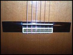 Gitaar Bovenblad Beschermer (achter de brug) - Rosette Tie Guard Soundboard Protector