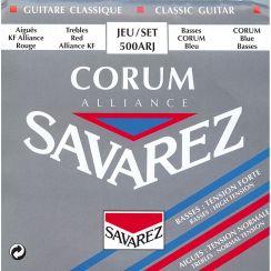 Savarez Corum Alliance 500 ARJ - Mixed Tension snaren voor Klassieke gitaar met Carbon Trebles