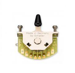 Schaller Megaswitch T 3-Standenschakelaar met Zwarte Tip - 15310011