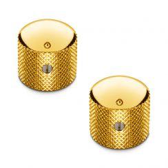 Schaller Knoppenset voor Tele en Precision Bas - Volumeknoppen Set van 2 Goud
