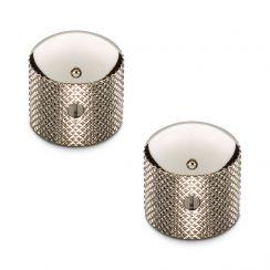 Schaller Knoppenset voor Tele en Precision Bas - Volumeknoppen Set van 2 Nickel