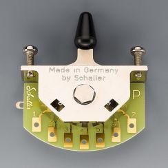 Schaller Megaswitch P 5-Standenschakelaar met Zwarte Tip - 15310004 PRS Style
